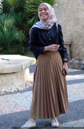 3 Style Hijab Lesti Kejora, Jadi Tren Fashion 2021 ...